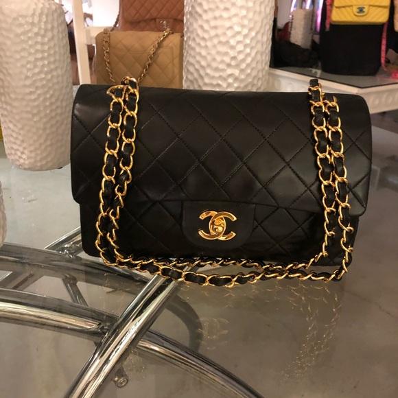 730ed1f60e66 CHANEL Bags | Sold Classic Black Lambskin Double Flap | Poshmark
